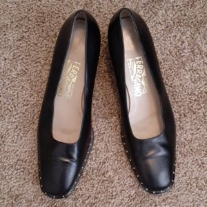 Salvatore Ferragamo Kitty Heel Loafers